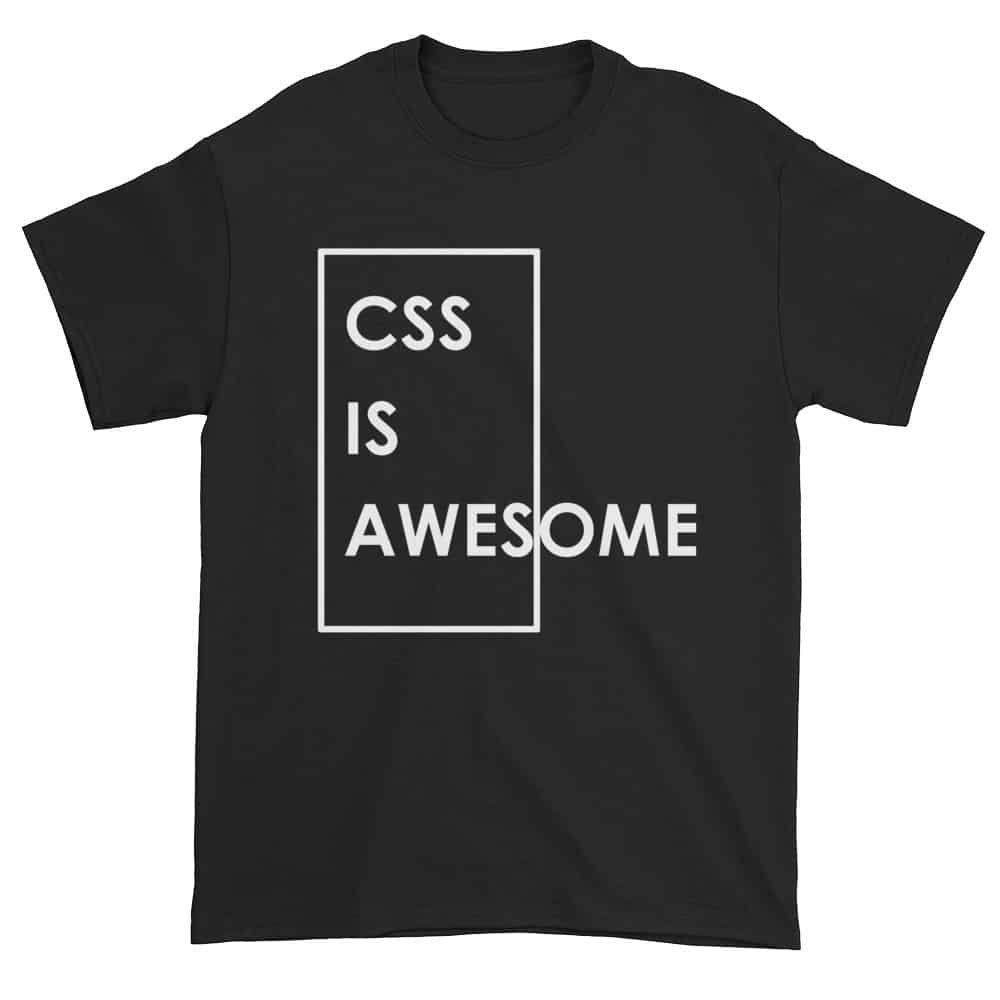 CSS is Awesome T-Shirt (black)