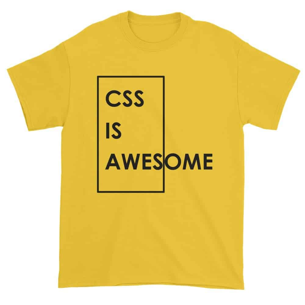 CSS is Awesome T-Shirt (daisy)