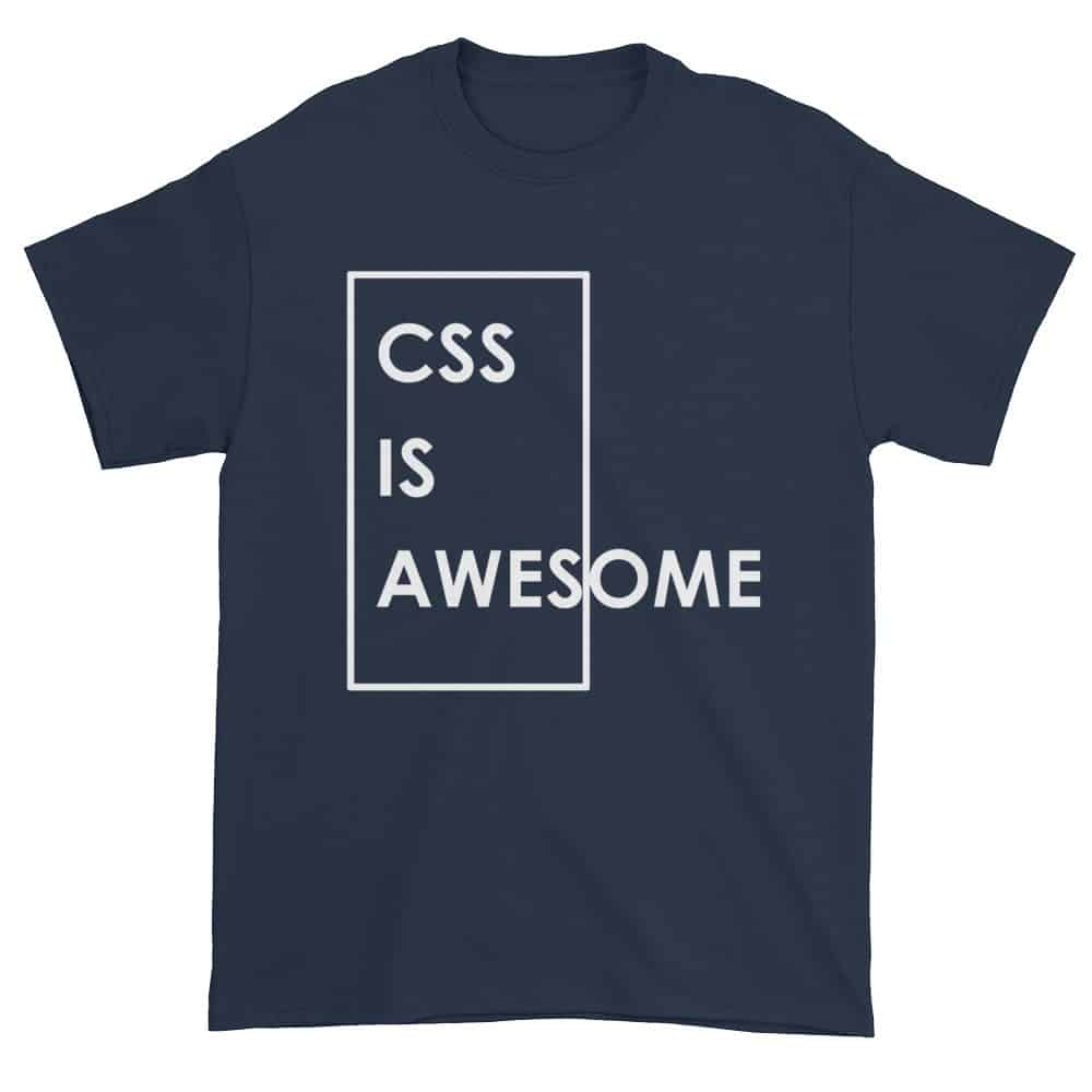 CSS is Awesome T-Shirt (navy)