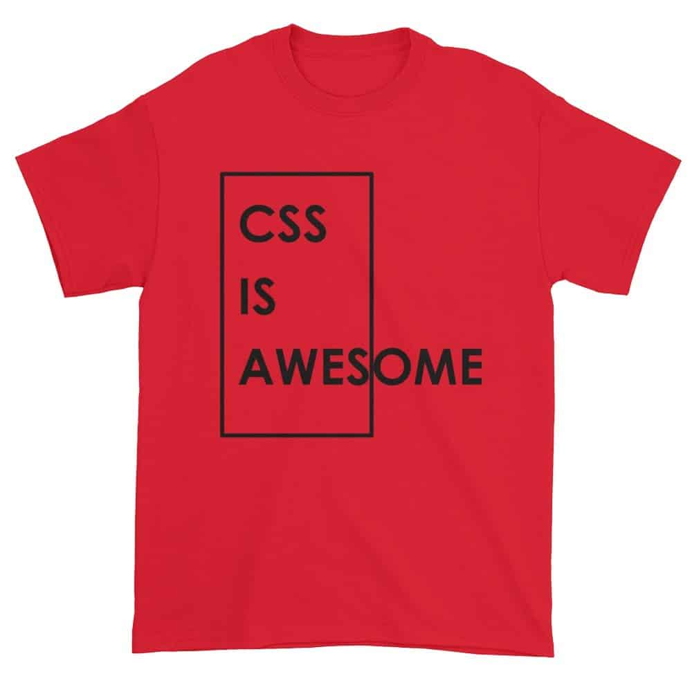 CSS is Awesome T-Shirt (red)