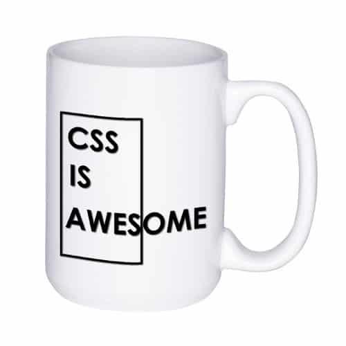 CSS is Awesome mug (15 oz)