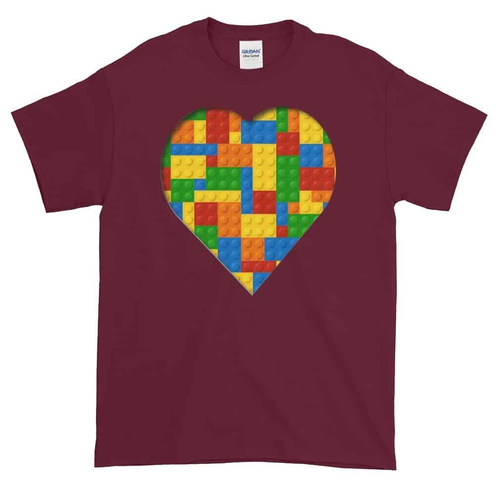 Lego Love T-Shirt (maroon)