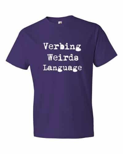 Verbing Weirds Language (purple)