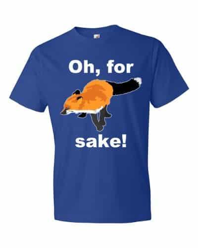 Oh For Fox Sake T-Shirt (royal)