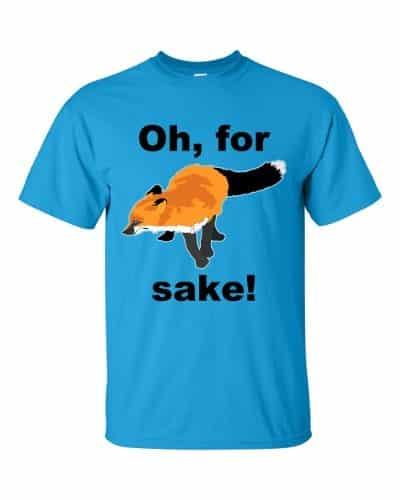 Oh For Fox Sake T-Shirt (sapphire)