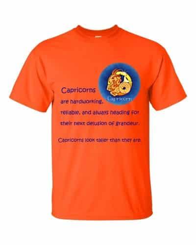 Capricorn T-Shirt (orange)
