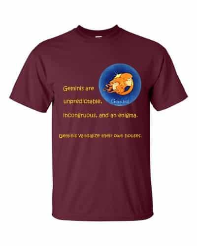 Gemini T-Shirt (maroon)
