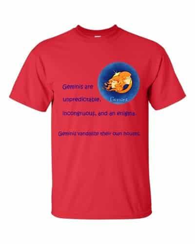 Gemini T-Shirt (red)