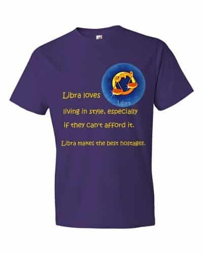 Libra T-Shirt (purple)