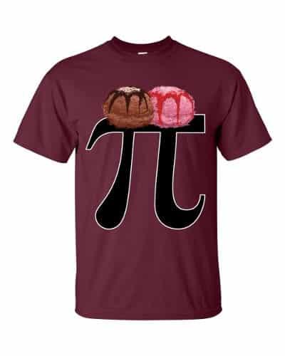 Pi a la Mode T-Shirt (maroon)