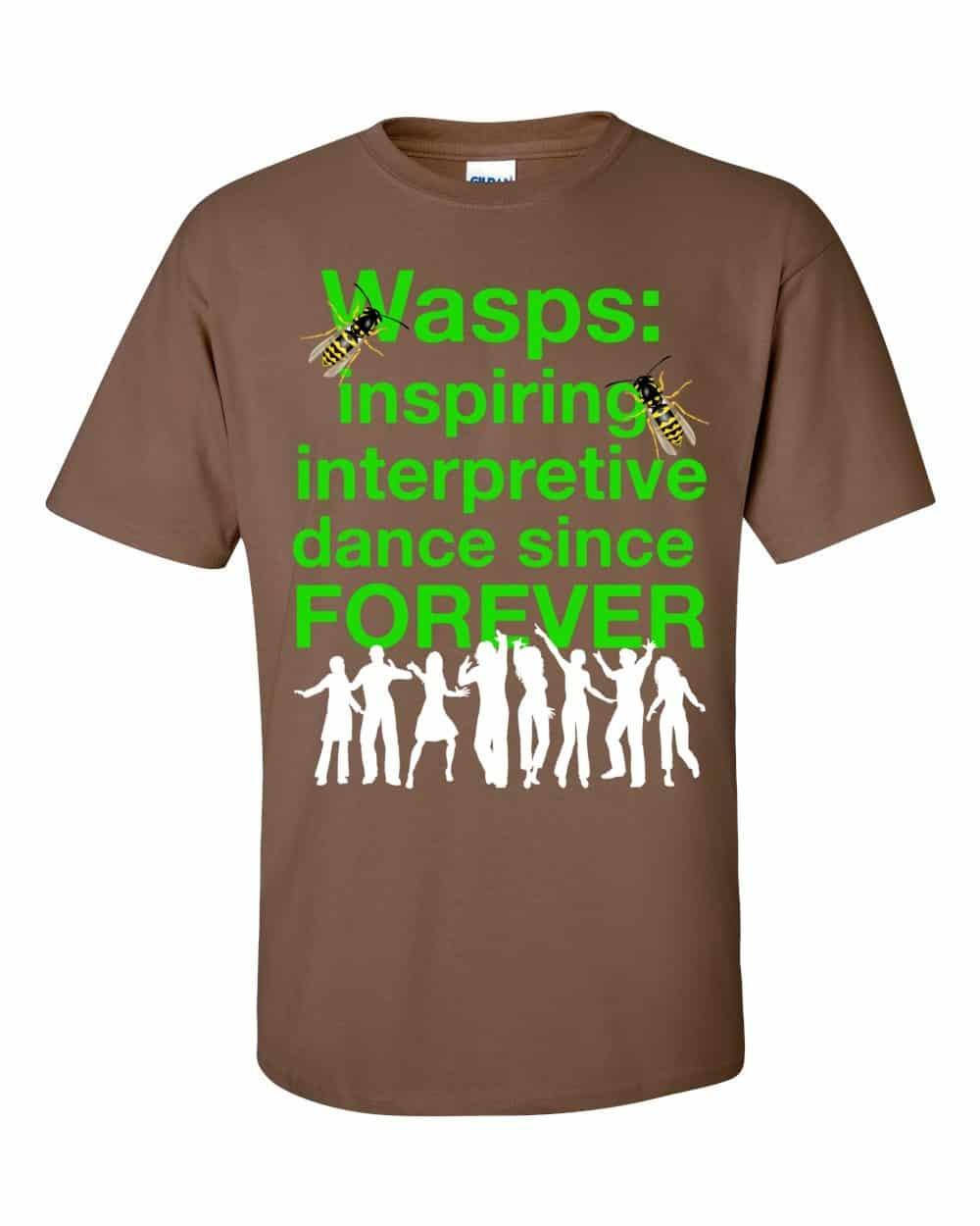 Wasps Inspire Interpretive Dance T-Shirt (chestnut)