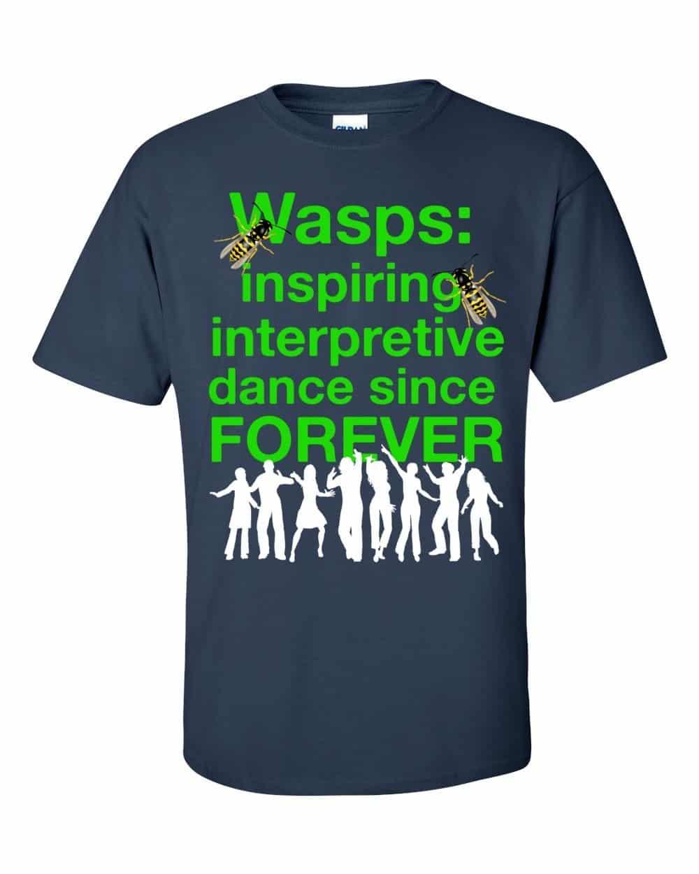 Wasps Inspire Interpretive Dance T-Shirt (navy)
