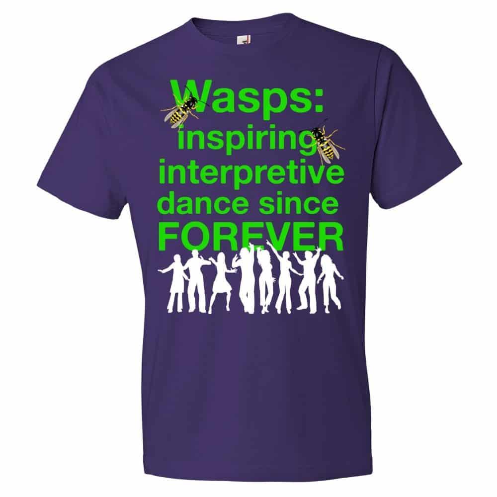 Wasps Inspire Interpretive Dance T-Shirt (purple)
