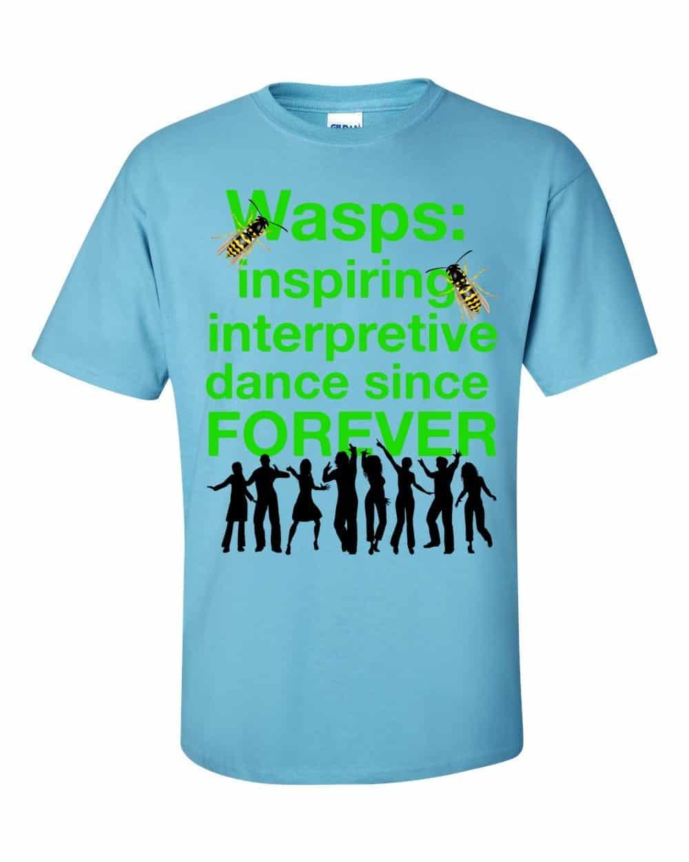 Wasps Inspire Interpretive Dance T-Shirt (sky)