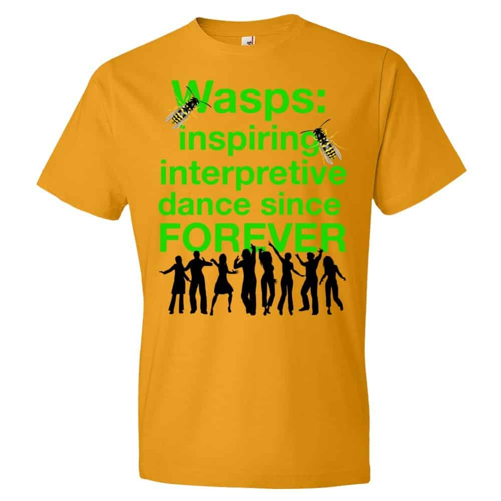 Wasps Inspire Interpretive Dance T-Shirt (tangerine)