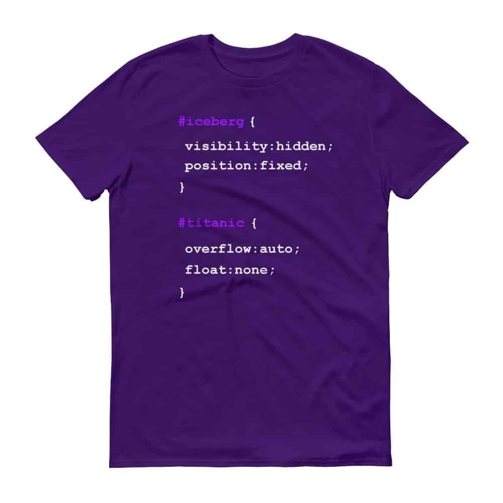 Iceberg vs. Titanic T-Shirt (purple)