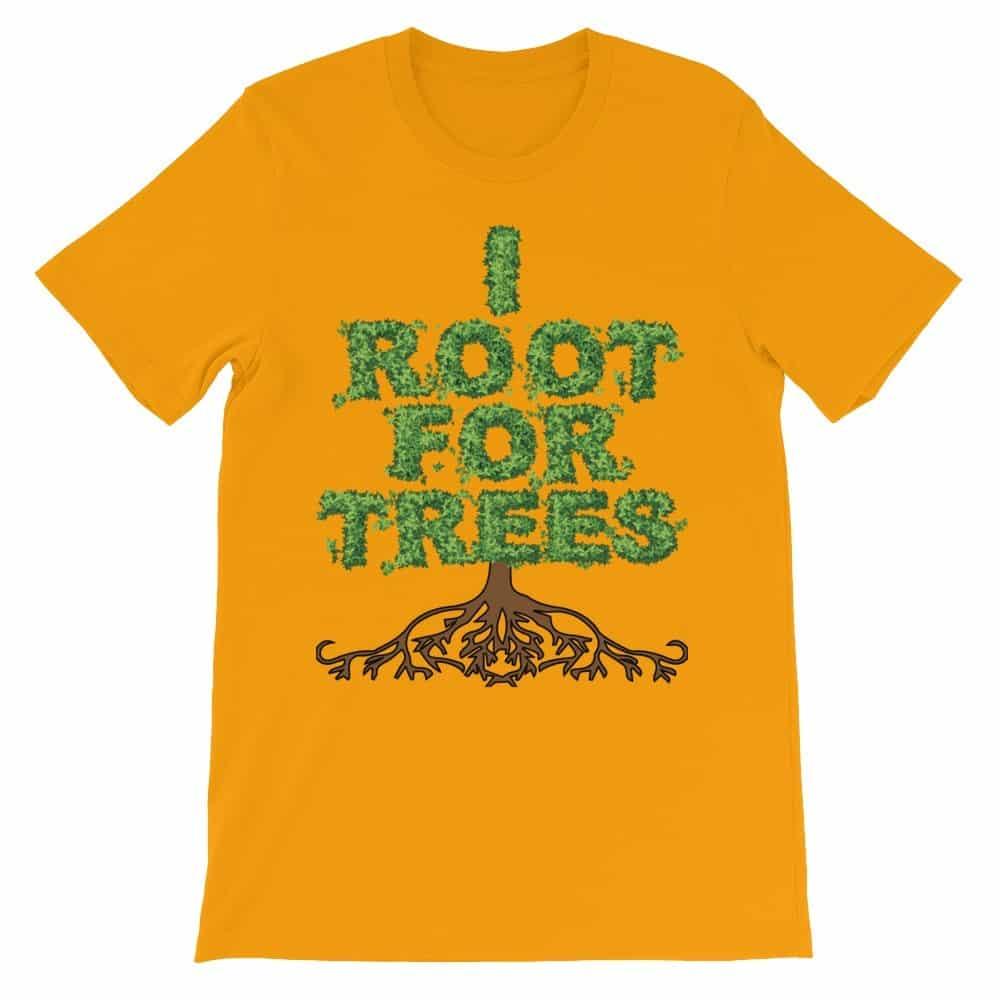 I Root for Trees T-Shirt (tangerine)