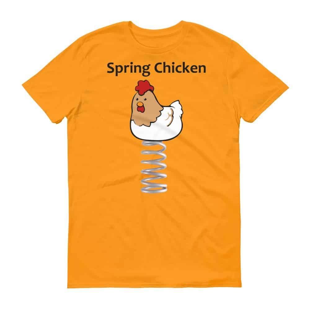 Spring Chicken T-Shirt (tangerine)