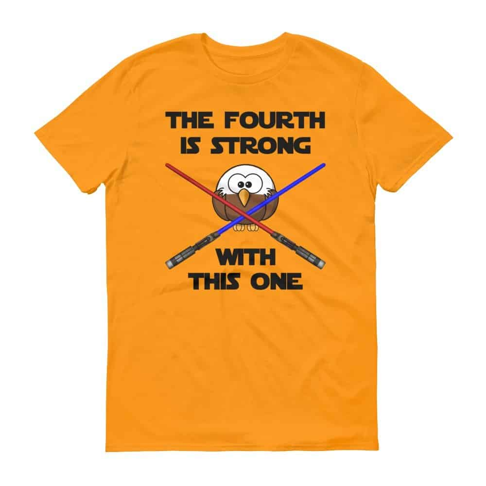 The Fourth is Strong T-Shirt (tangerine)