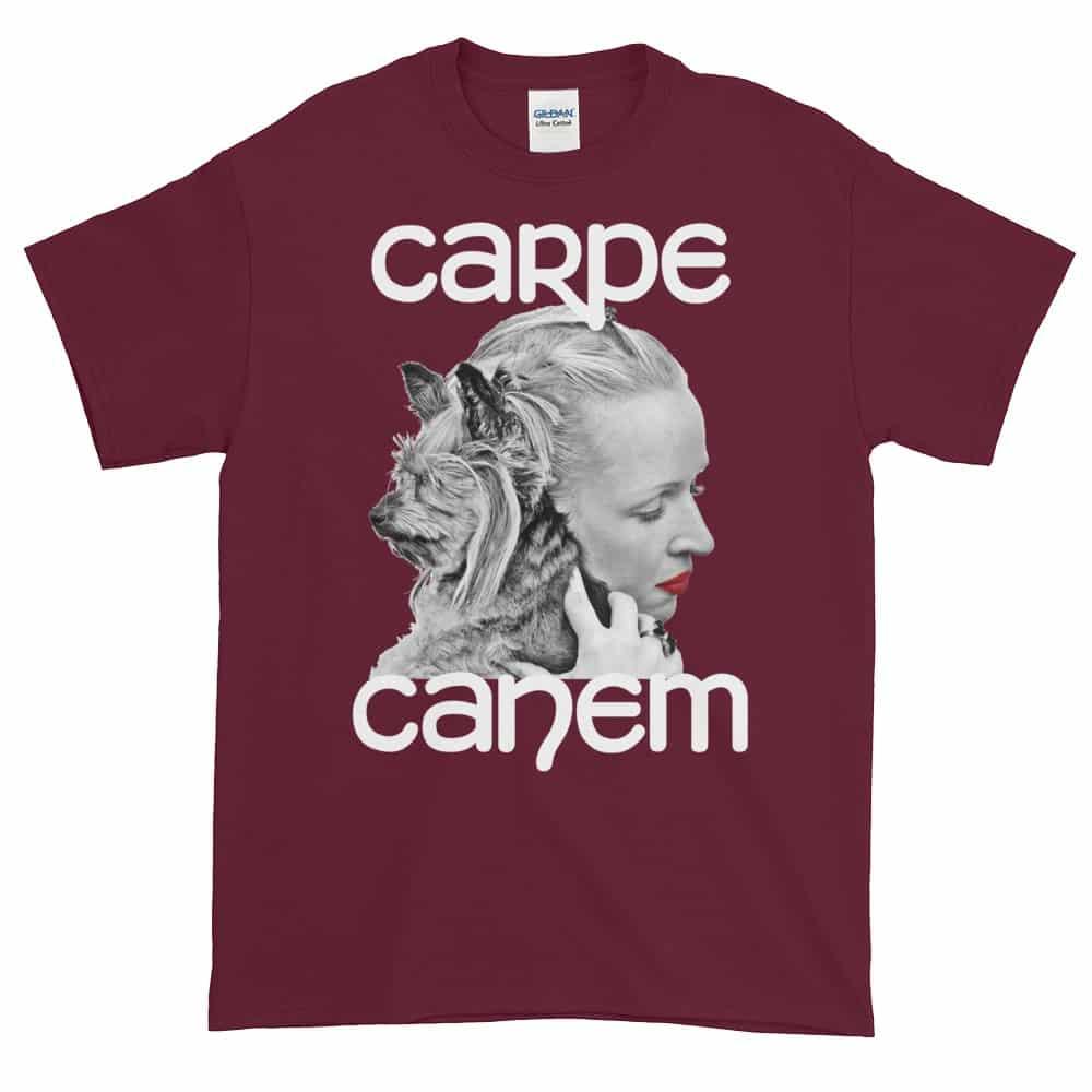 Carpe Canem T-Shirt (maroon)