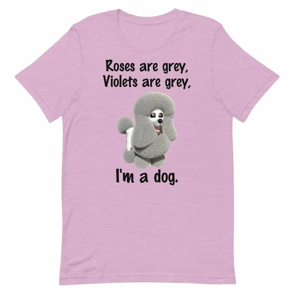 Roses are Grey T-Shirt (orchid)