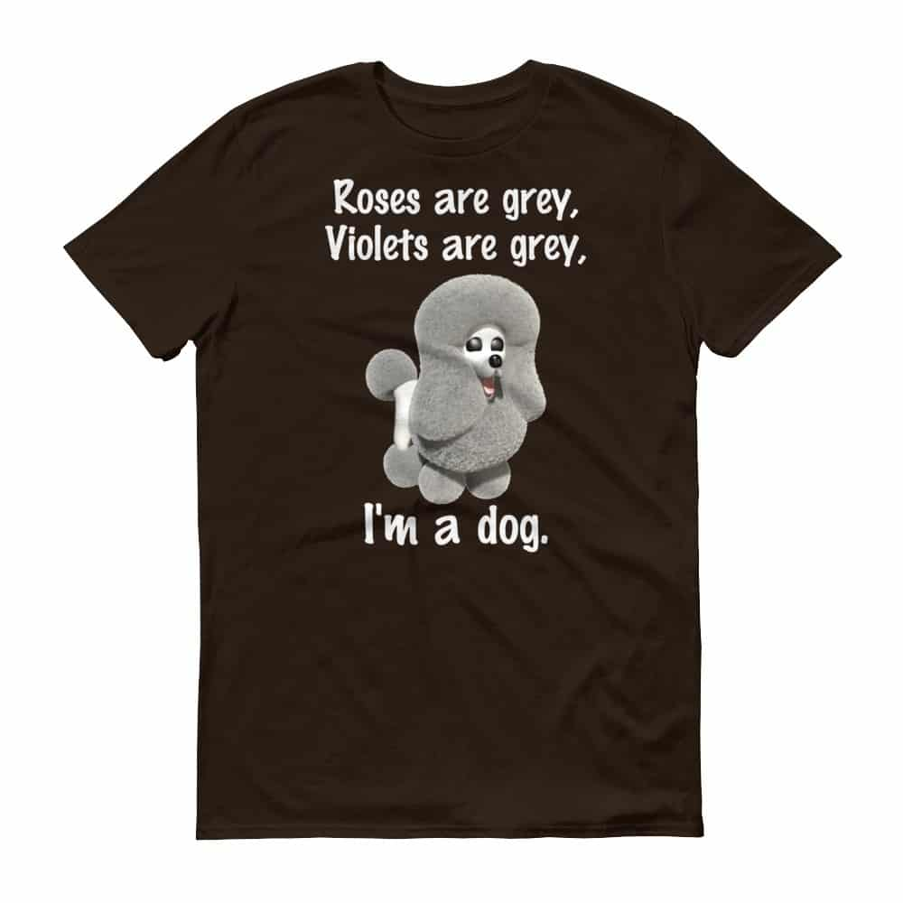 Roses are Grey T-Shirt (chocolate)