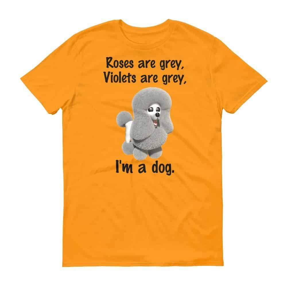 Roses are Grey T-Shirt (tangerine)