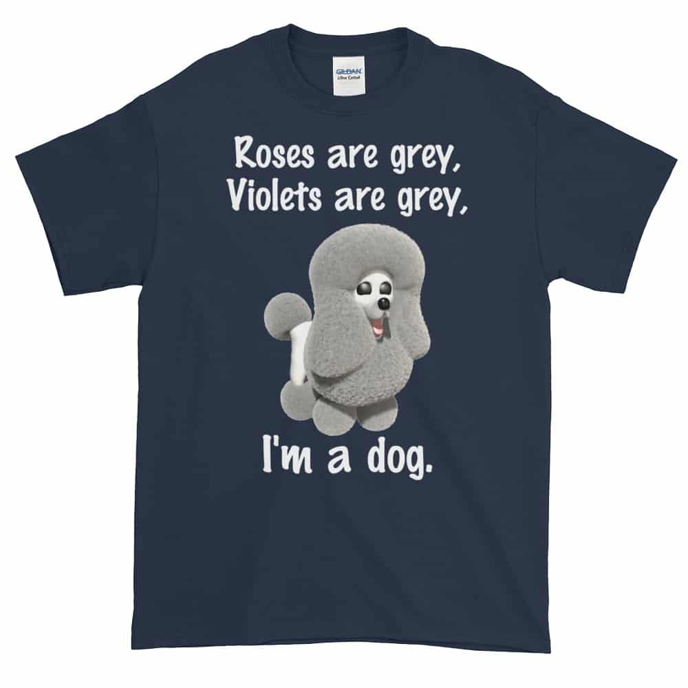 Roses are Grey T-Shirt (navy)