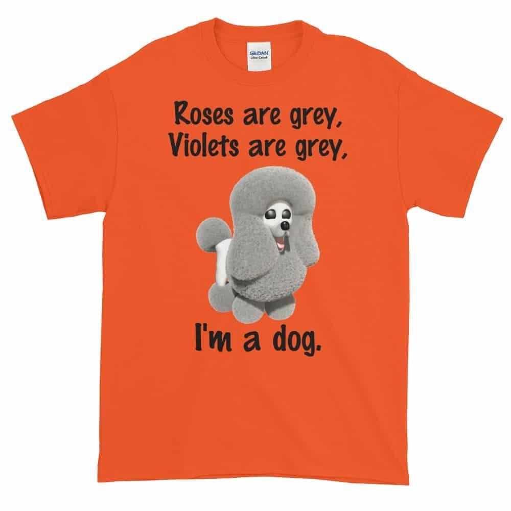 Roses are Grey T-Shirt (orange)