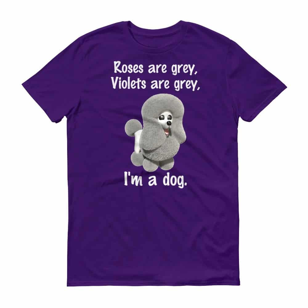 Roses are Grey T-Shirt (purple)