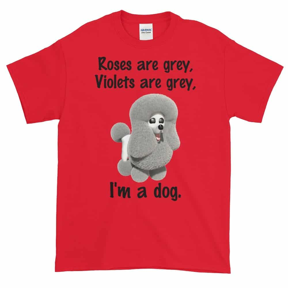 Roses are Grey T-Shirt (red)