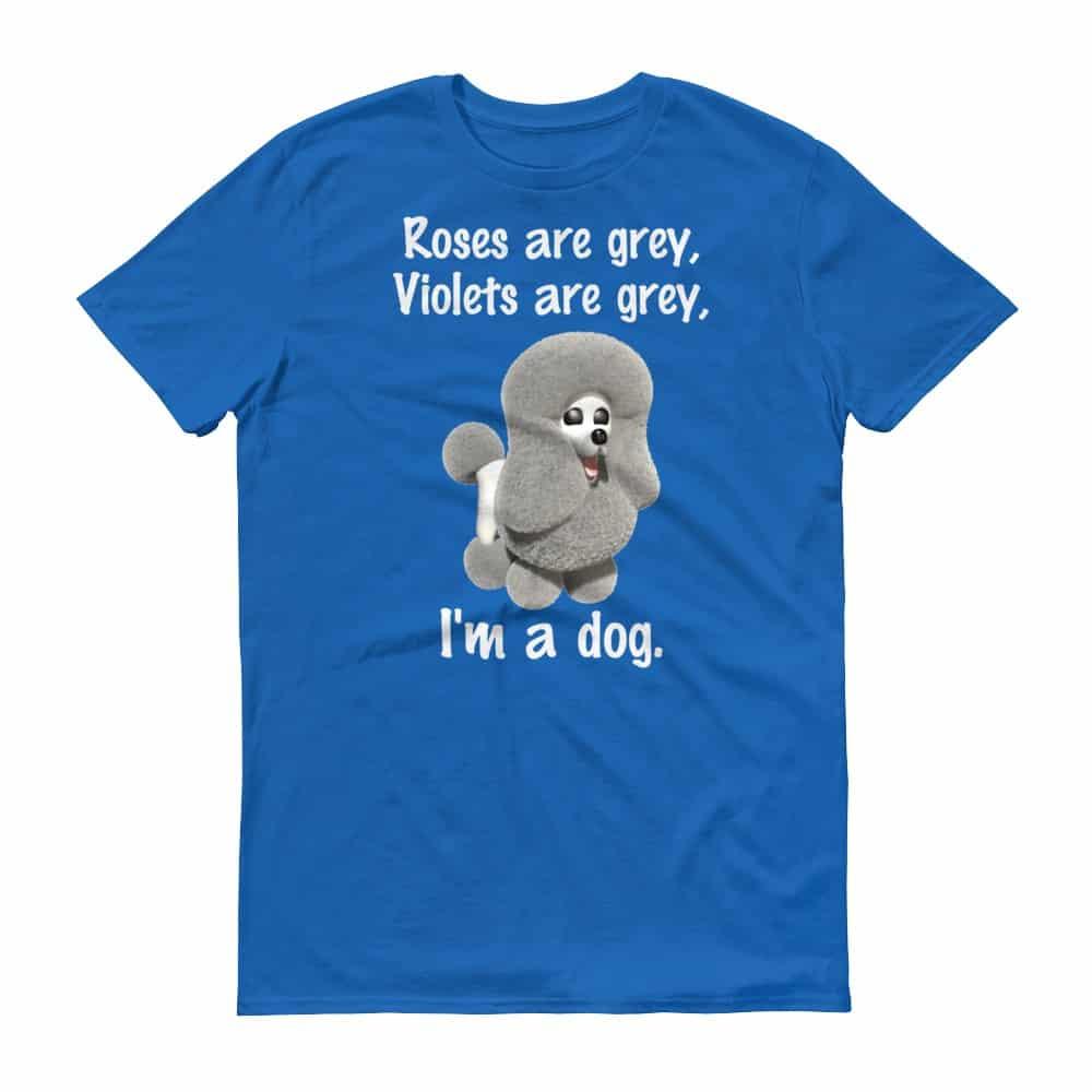 Roses are Grey T-Shirt (royal)
