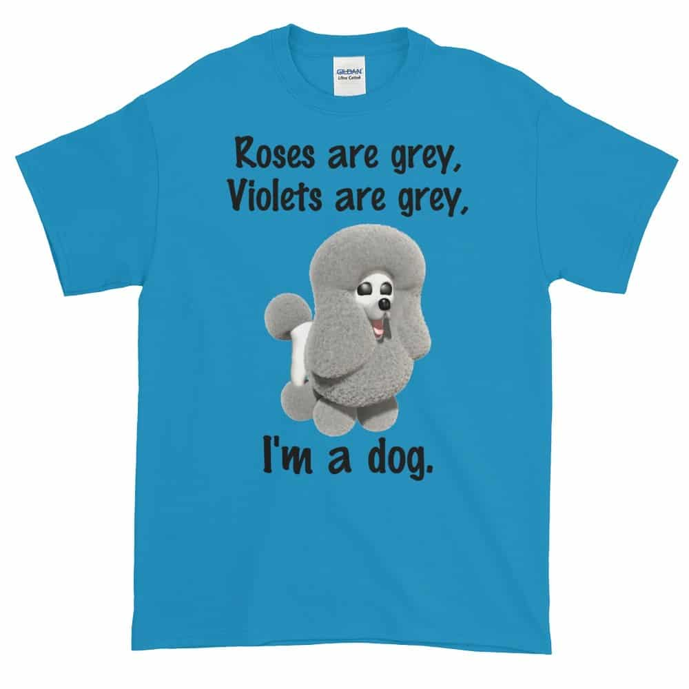 Roses are Grey T-Shirt (sapphire)