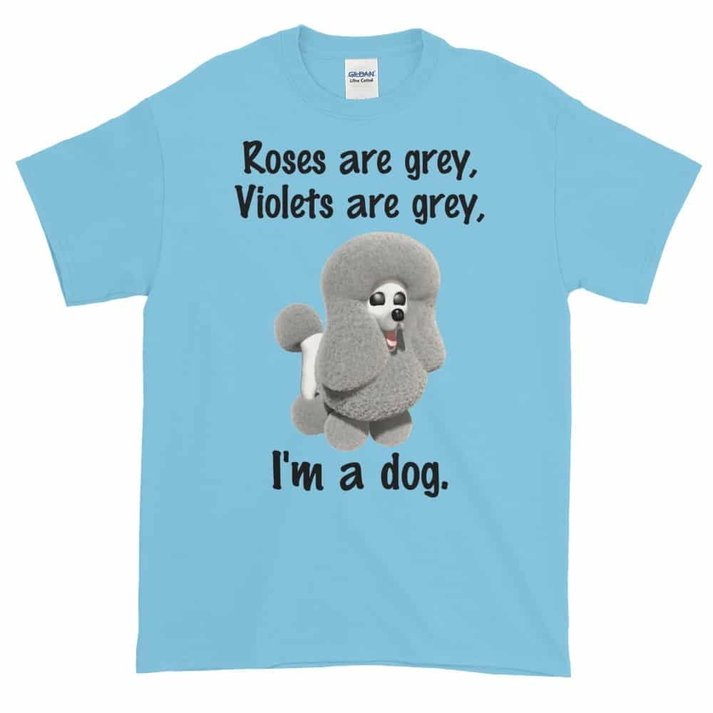 Roses are Grey T-Shirt (sky)