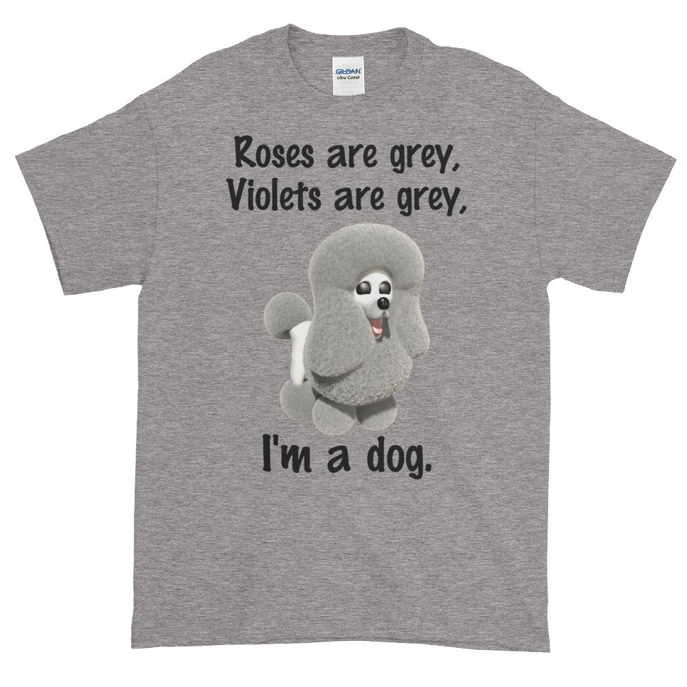 Roses are Grey T-Shirt (slate)
