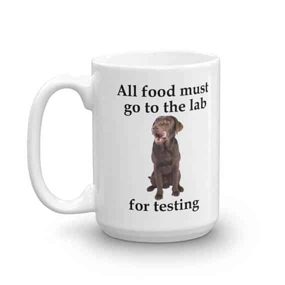 All Food Must Go to the Lab Mug - 15 left