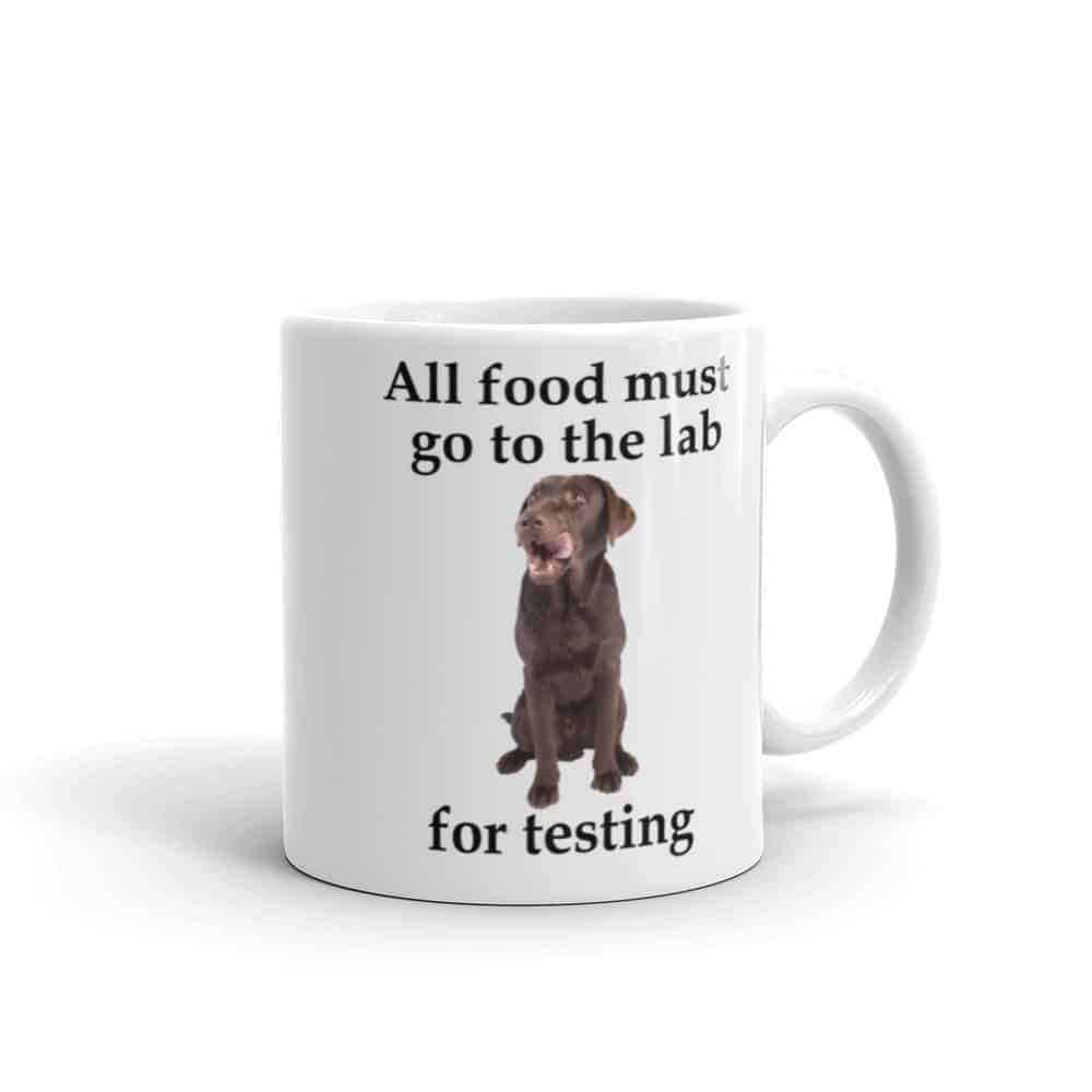 All Food Must go to the Lab Mug - 11 right