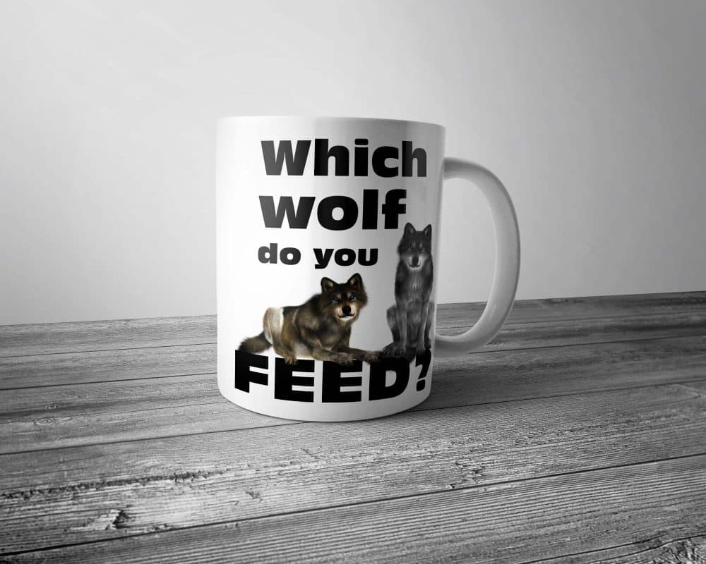 Which Wolf do you Feed Mug