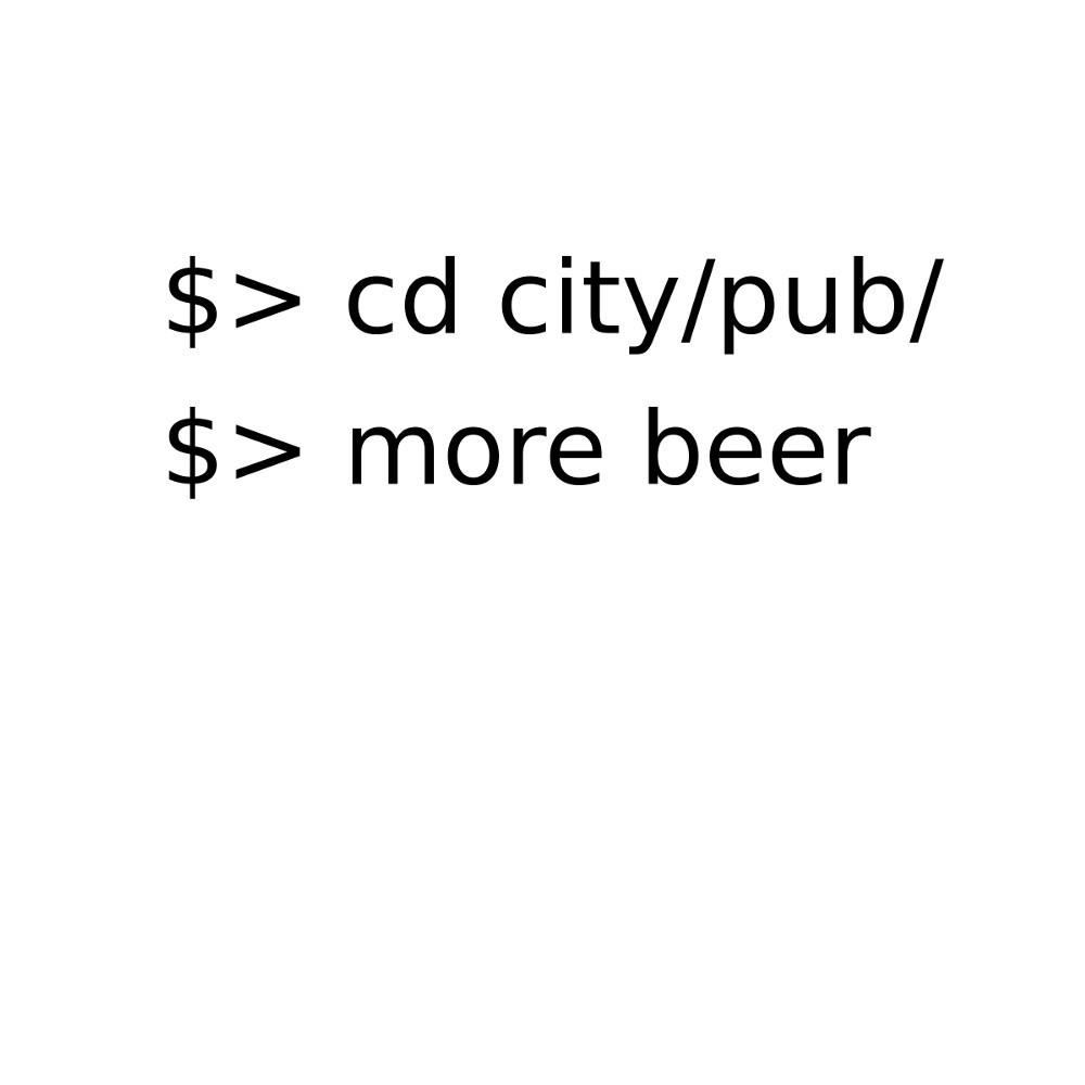 Linux Go to Pub Order Beer