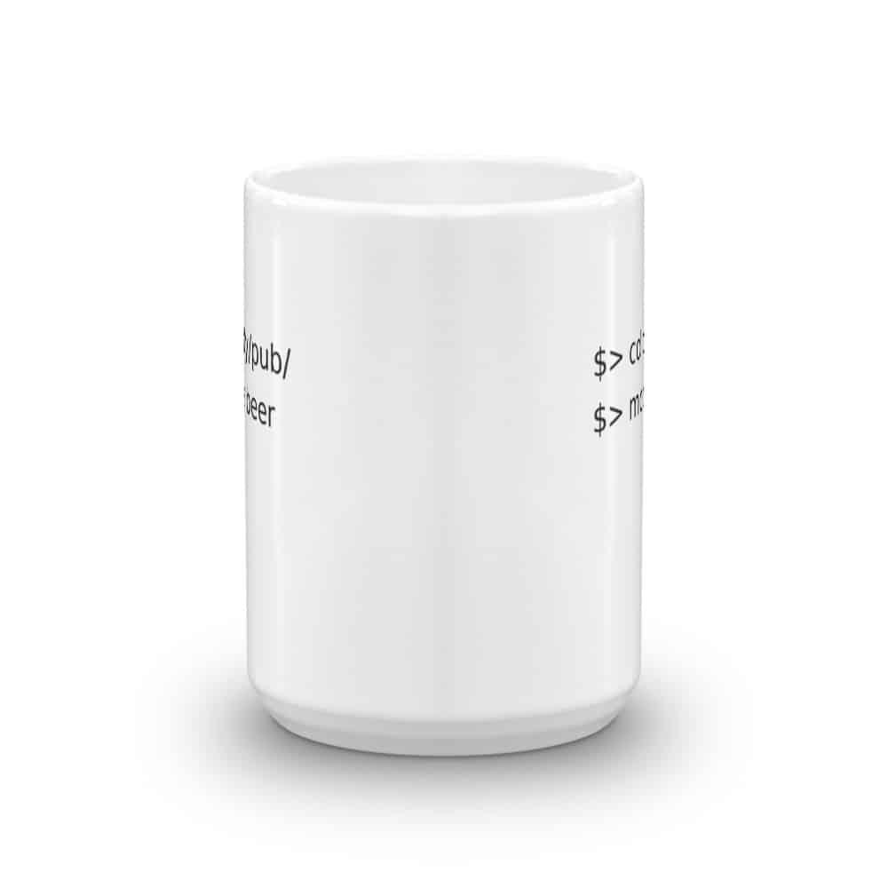 Linux Go to Pub Order Beer Mug