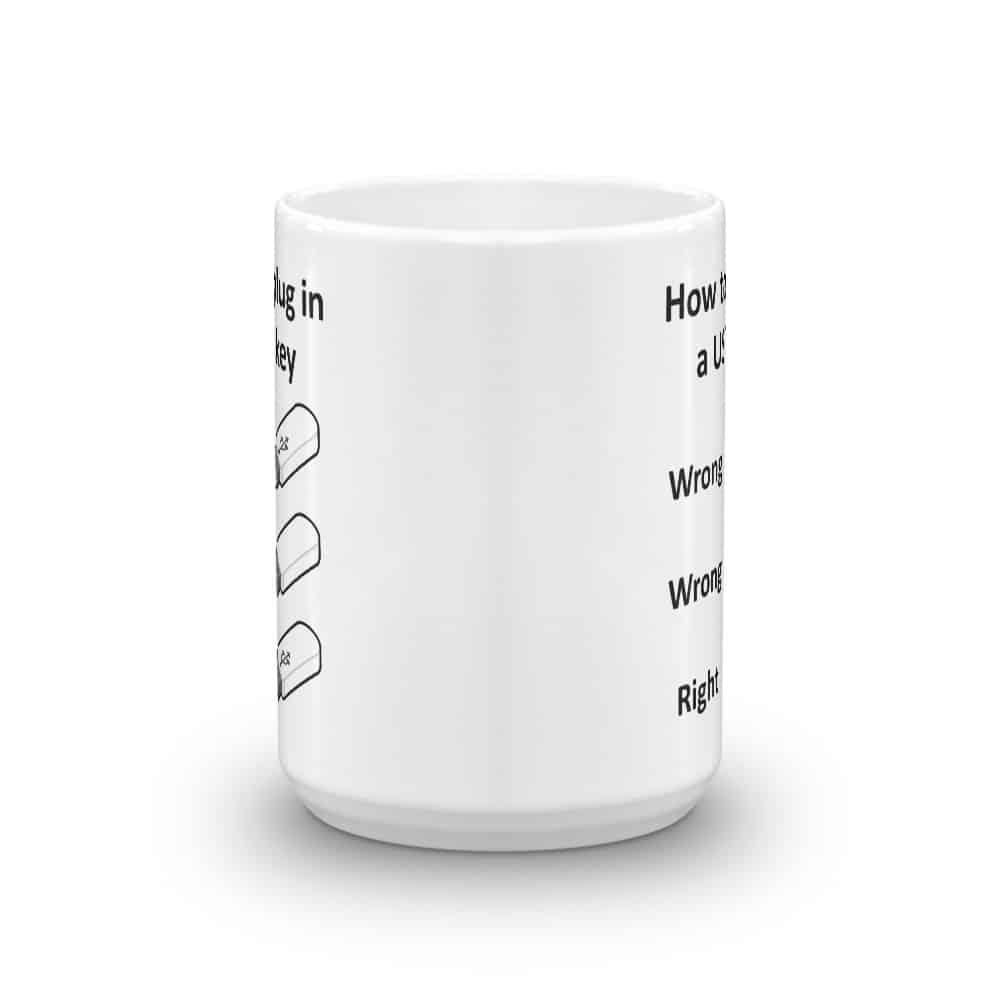 How to Plug in a USB Key Mug