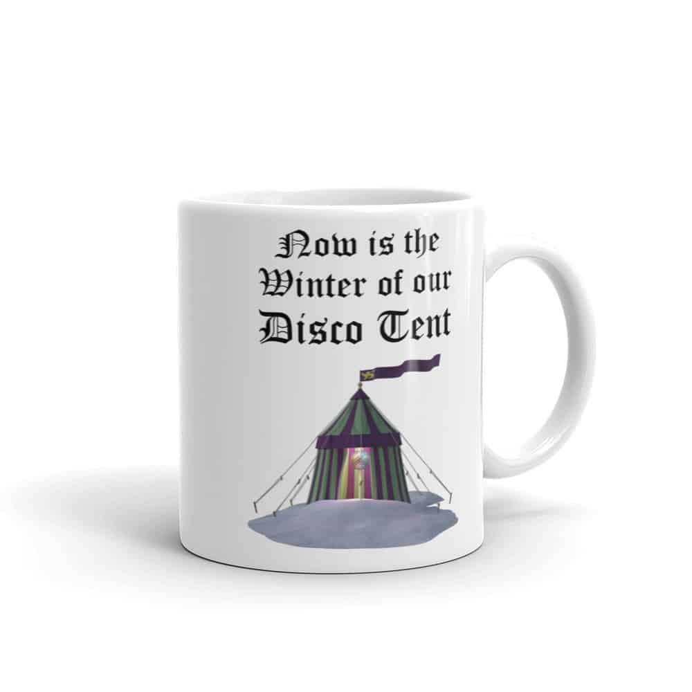 Winter of Our Disco Tent Mug