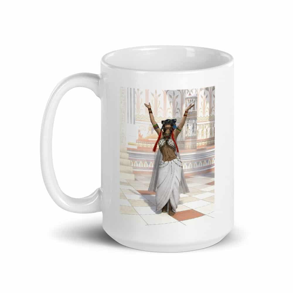 Ancient Egyptian Cat Goddess Bastet Priestess Mug