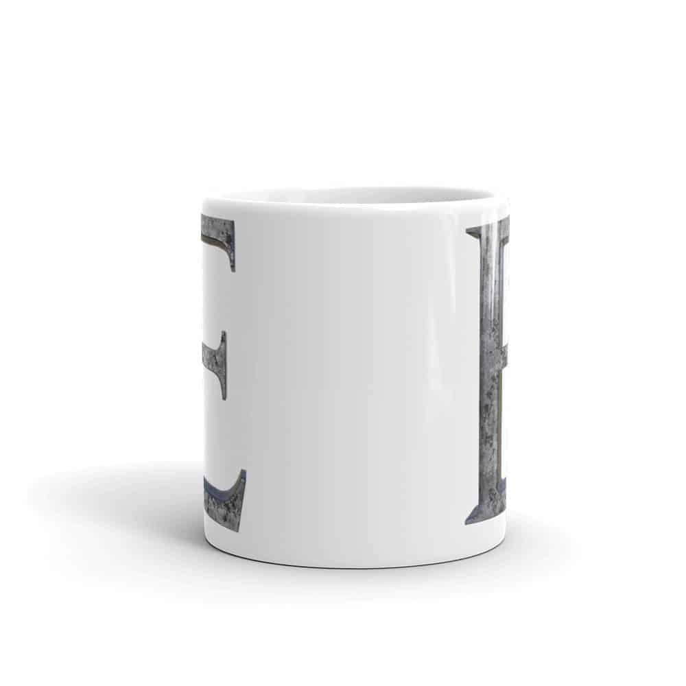 Iron E (Irony) Mug